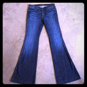 7 For All Mankind High Waist Flare Jean 28x35 Tall